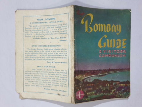 Booch, Harish S: Pocket Guide To Bombay - A Visitor's Companion. 1952. 100p