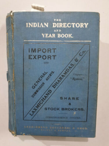 The Indian Directory And Year Book 1917-18. Illus. Princes Merchants. Thick Book