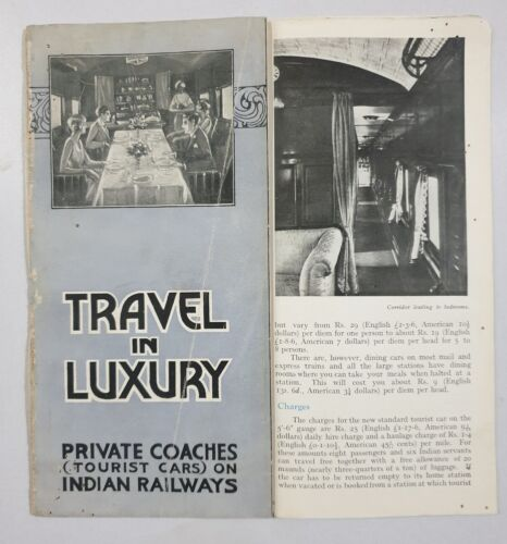 PRIVATE COACHES - 1930's Illustrated Guide INDIAN STATE RAILWAYS
