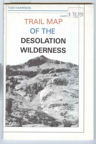 Tom Harrison Trail Map of the DESOLATION WILDNESS California 1991 shaded-relief