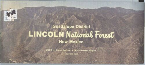 USDA National Forest Service Map LINCOLN GUADALUPE DISTRICT New Mexico rev. 1993