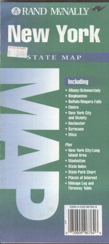Rand-McNally state map: NEW YORK - c.1995 - paper - highway -