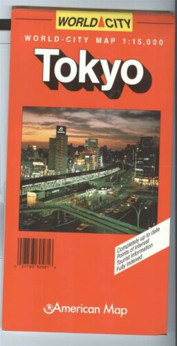 American Map Co World City: TOKYO Japan - ©1998 - 1:15,000 -