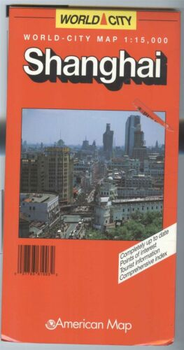 American Map Co World City: SHANGHI China - ©1998 - 1:15,000 -
