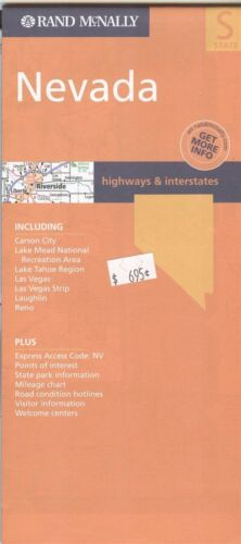 Rand-McNally state map: NEVADA - c.2004 - paper - highway -