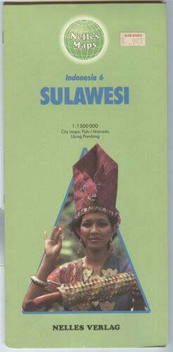 Nelles Maps Indonesia 6 SULAWESI double-sided - Printed in West Germany