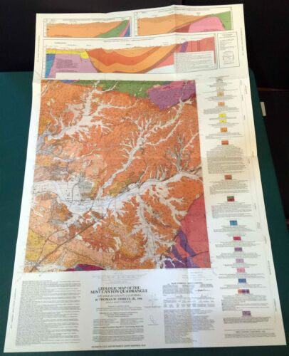 HTF Dibblee Geologic Map DF-57 MINT CANYON Los Angeles County 1996 - 1st print
