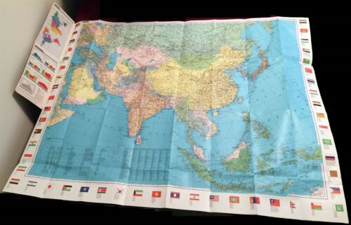 Kümmerly + Frey Map - ASIA - ASIE ASIEN - includes Middle East - Flags - Climate
