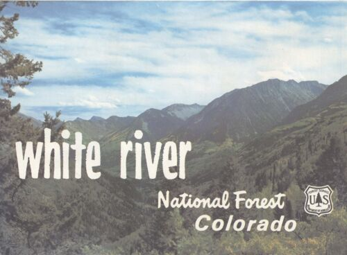 USDA National Forest Service Map WHITE RIVER - Colorado - 1979 revised 1985 -