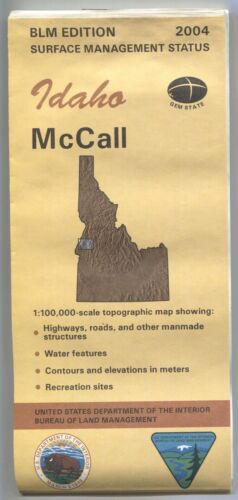 USGS BLM edition topographic map Idaho McCALL - 2004 - surface - Water Damaged
