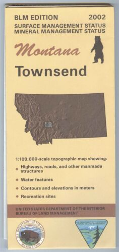 USGS BLM edition topographic map Montana - TOWNSEND - 2002 mineral