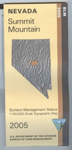 USGS BLM edition topographic map Nevada SUMMIT MOUNTAIN -2005- surface 100K