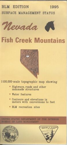 USGS BLM edition topographic map Nevada FISH CREEK MOUNTAINS 1995