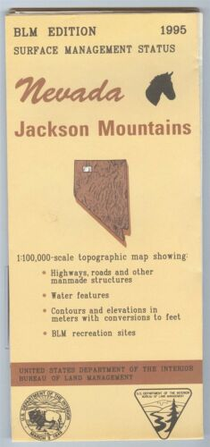 USGS BLM edition topographic map Nevada JACKSON MOUNTAINS  1995