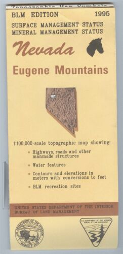 USGS BLM edition topographic map Nevada EUGENE MOUNTAINS 1995 mineral