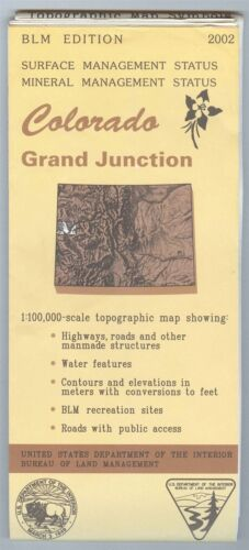 USGS BLM edition topographic map Colorado GRAND JUNCTION 2002 mineral
