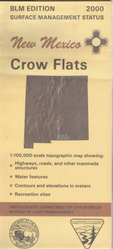 USGS BLM edition topographic map New Mexico CROW FLATS 2000