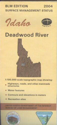 USGS BLM edition topographic map Idaho DEADWOOD RIVER - 2004 - surface -