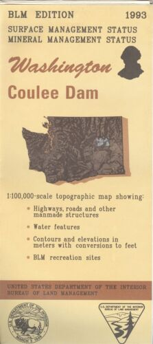 USGS BLM edition topographic map Washington COULEE DAM 1993 mineral