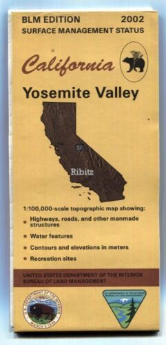 USGS BLM edition topographic map California YOSEMITE VALLEY -2002- surface stat