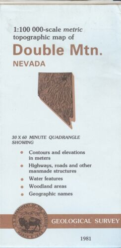 USGS Topographic Map  DOUBLE MTN Nevada 1981 - 100K -