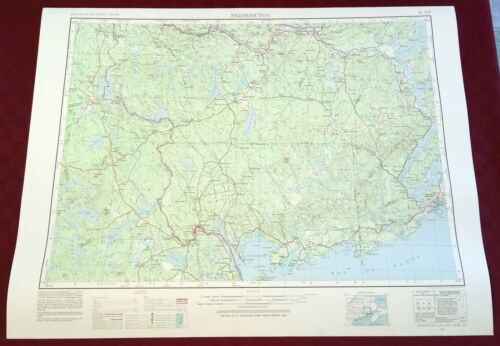 USGS Topographic Map FREDERICTON NB CANADA - Maine USA - 1981 - 250K - flat -