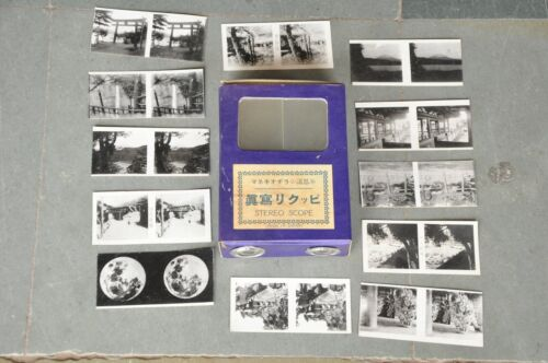 Vintage Stereo Scope Binocular Toy With Photographs , Japan