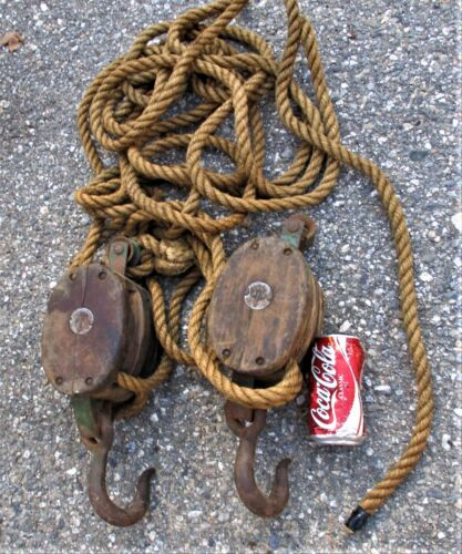 ANTIQUE ANCHOR USA CAST IRON NAUTICAL MARITIME SEA SHIP BLOCK TACKEL ROPE PULLEY