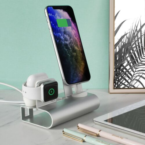 Aduro Desktop Charging Station for iPhone Apple Watch & Air Pods Universal Stand