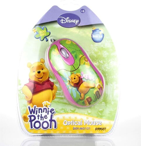 Disney Winnie The Pooh Pink Computer Optical USB PC Mouse DSY-MO121 NEW