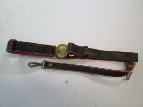 WWII JAPANESE GENERALS OFFICER PARADE SWORD BELT AND BUCKLE HANGER ONLY #L249Edged Weapons - 165599