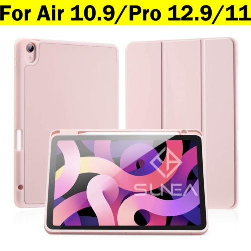 """iPad Pro 11/12.9"""" Case 2020/2018 Shockproof Silicon Smart Cover With Pen Holder"""