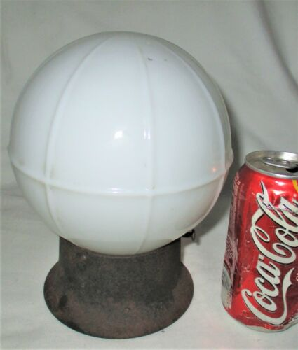 ANTIQUE RETRO HOME ARCHITECTURAL MILK GLASS CEILING LIGHT LAMP GLOBE ART FIXTURE
