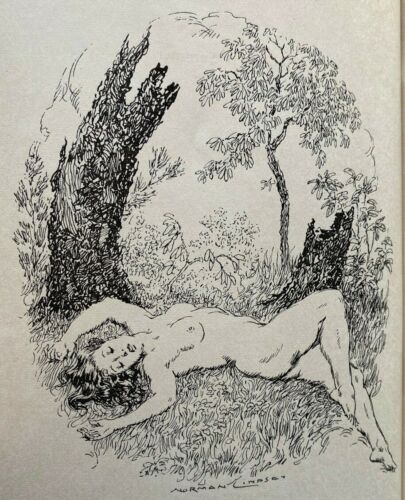 1951 IMMINENT SUMMER, RARE 1st SIGNED by Keesing. NORMAN LINDSAY, free shipping