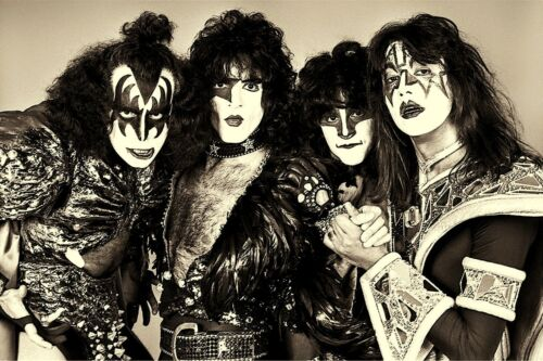 """1990's KISS BAND Members Gene, Paul, Eric and Tommy 4""""x6"""" Photo Reprint"""