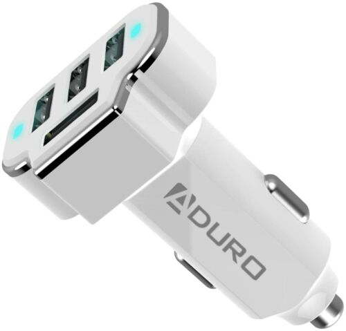 Aduro PowerUp 4 Port Car Charger USB Adapter Cigarette Lighter iPhone Android