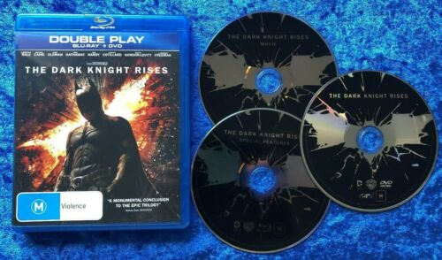 The Dark Knight Rises Bluray and Region 4 DVD Free Postage