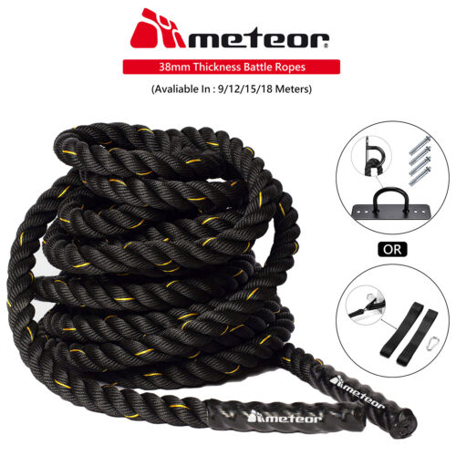 Meteor Battling Ropes Battle Ropes 9m,12m,15m Strength Training Exercise Workout