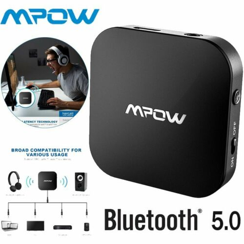 Mpow Bluetooth 5.0 Wireless Transmitter Adapter Audio Optical for TV Audio Home