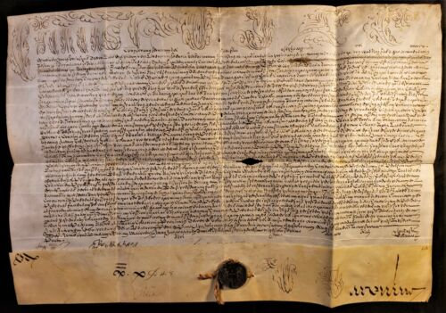 POPE CLEMENT XII BULL Letter to G. Antonio Lotti Signed by Cardinal Caraffa 1737