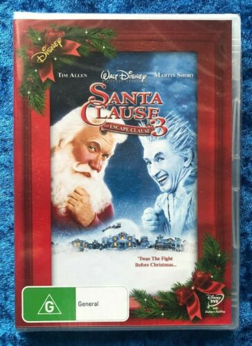 Santa Clause 3 The Escape Clause Brand New Unopened Region 4 DVD Free Post