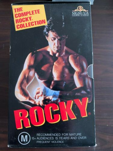 The Complete Rocky Collection 1-5 VHS Video Box Set from 1995 Sylvester Stallone