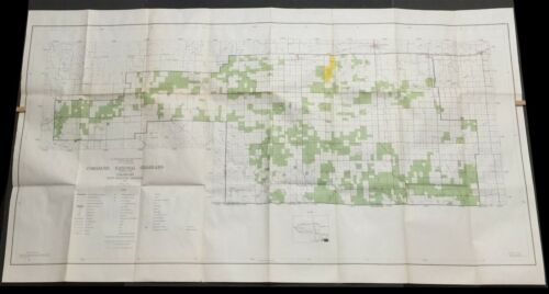 USDA Forest Service Map COMANCHE NATIONAL GRASSLAND 1969-1970 STAR print 1985