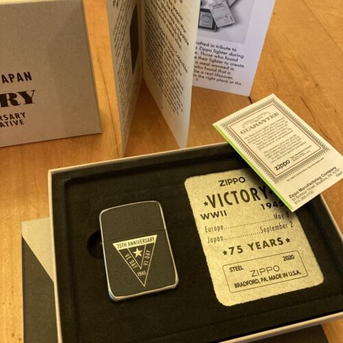Zippo 75th Anniversary Commemorative Of The End Of Wwii, Ve Day, 49264 Gift Box