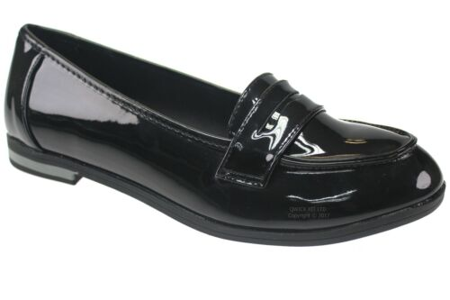 New Girls School Shoes Womens Ladies Work Shoes Loafer Flats Wedding Shoes Size <br/> FORMAL ULTRA LIGHTWEIGHT BACK TO SCHOOL FLAT SMART