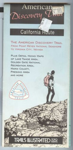 Trails Illustrated Topo Map AMERICAN DISCOVERY TRAIL California Route Nevada 902