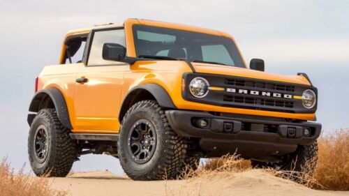 2021 Ford Bronco orange, 24X36 inch poster, Awesome!