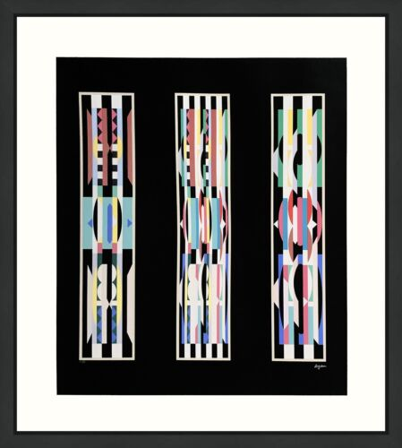 """YAACOV AGAM """"UNTITLED"""" BLACK 
