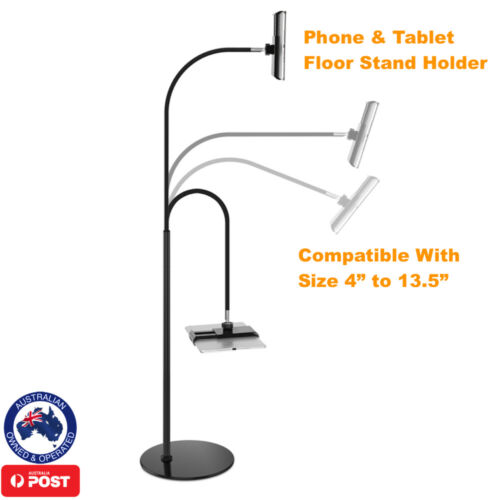 iphone ipad Kindle Tablet Floor Stand Holder Compatible All Size 4 in - 13.5 in