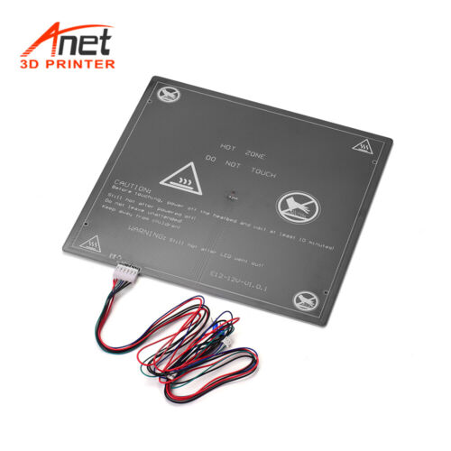 For Anet E12 3D Printer Hot Bed Heating Platform Heatbed Aluminum 300x300 Z9Q1
